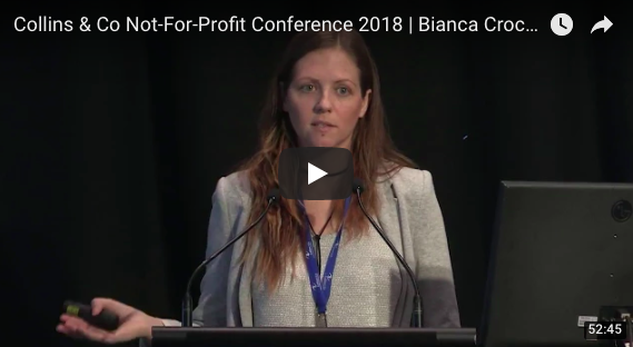 Bianca Crocker Collins and Co Conference for Not For Profits