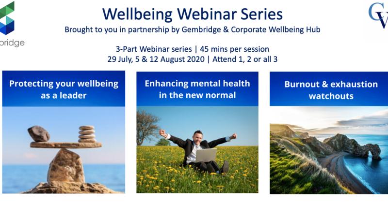 Wellbeing webinar series for charities